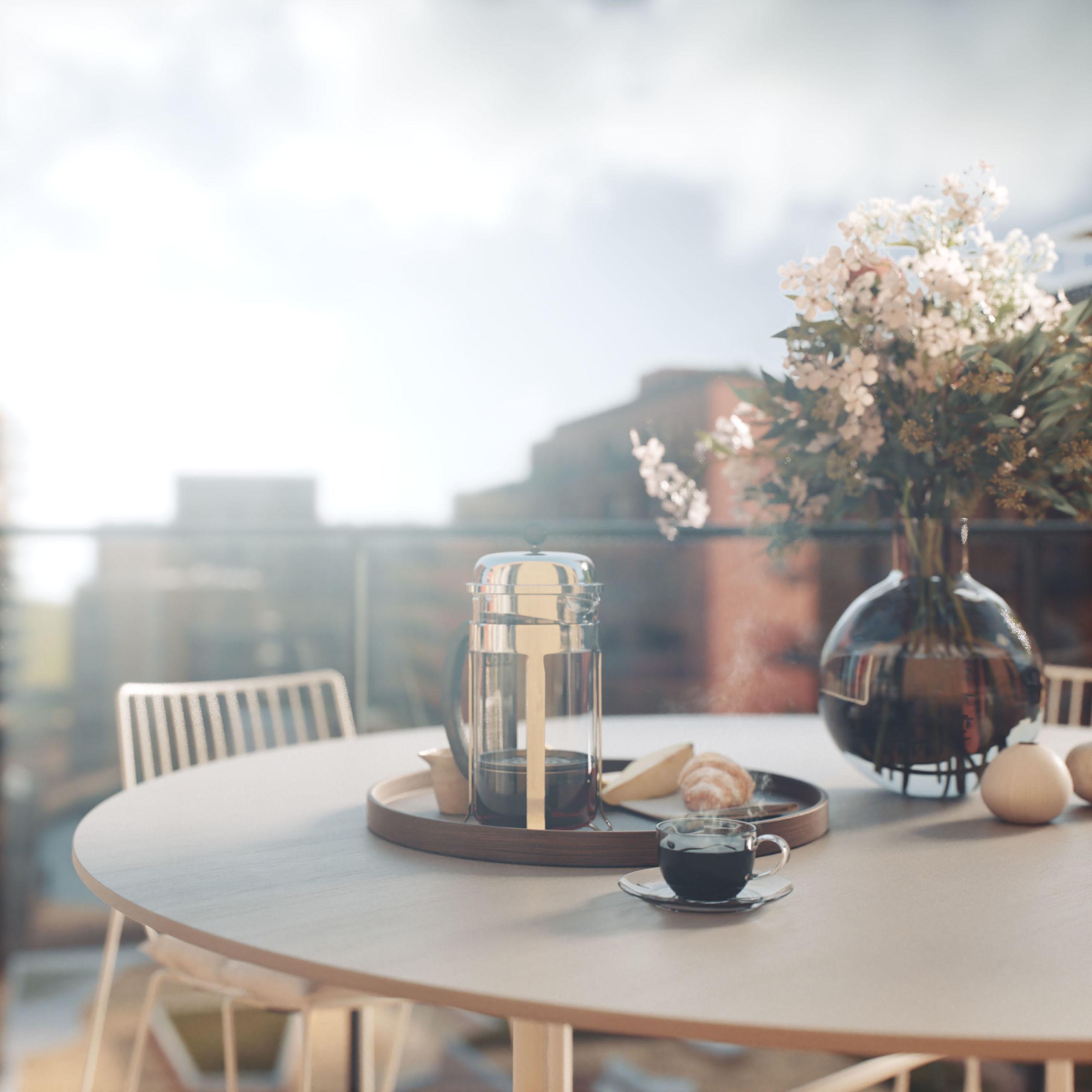 utsikt balkong lørenskog hageby